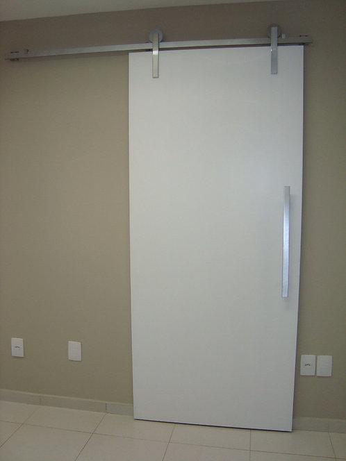 Porta Interna de Correr Branca Kit de Alumínio