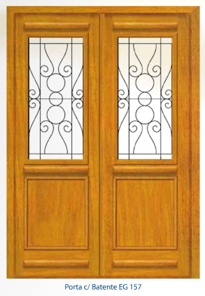 Porta Externa 2 folhas com Grade - EG157