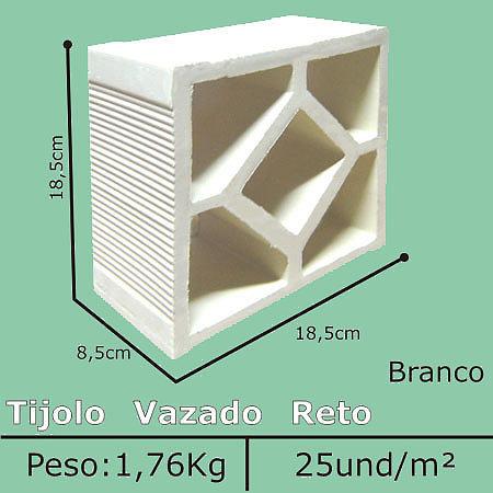 Elemento vazado Branco