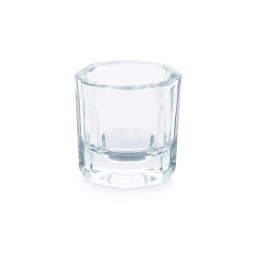 Glass cup for mixing henna