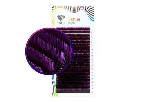 "Ombre ""Violet"" Eyelash extensions, 20 lines MIX"