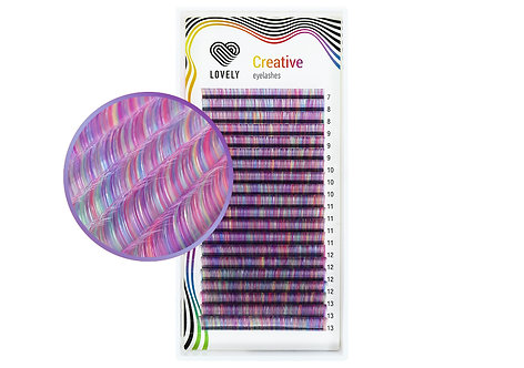 """Purple Mix #2"" Eyelash extensions, 20 lines MIX"