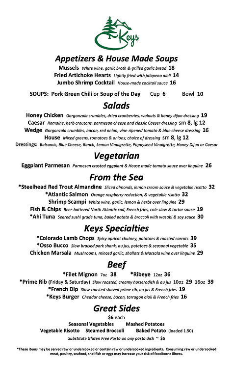 Microsoft Word - Dinner Menu NEW trimmed