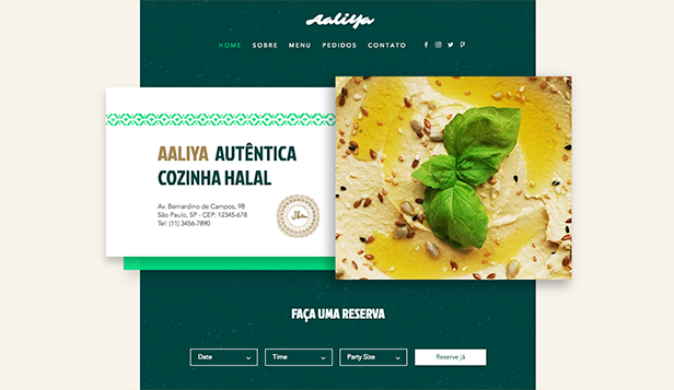 Restaurantes e Comida website templates – Restaurantes Halal