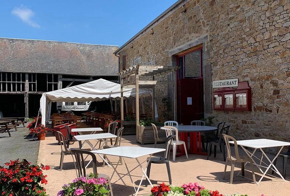 2 menus de la Ferme + Boissons - Tarif 2 personnes