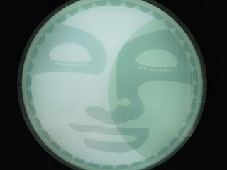Mondlampe beleuchtet