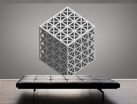 """3D Wanddesign Nr.1 """"CUBE"""""""