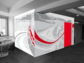Wandgestaltung, Firmengebäude