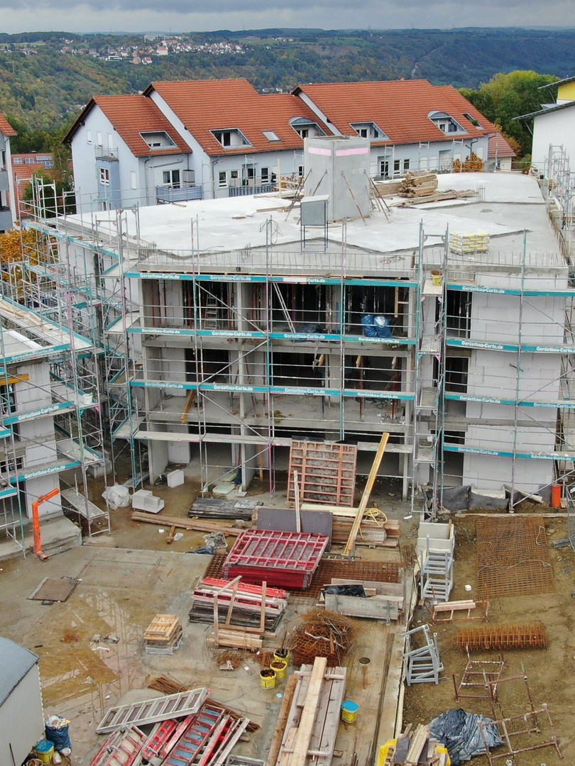 Übersicht Haus 5 (Bodenplatte 2.OG), Haus 1 (Bodenplatte 3.OG)