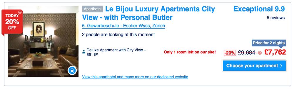 Zurich hotel butler