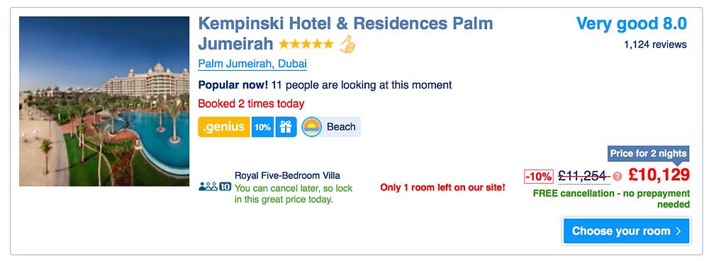 most expensive hotel in dubai