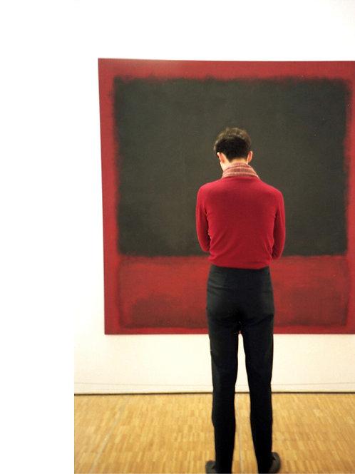 Rothko,Untitled (James, Black, Red over Black on R