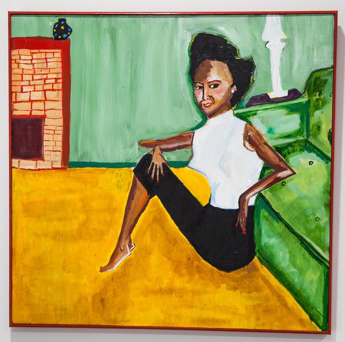 DOROTHY DANDRIDGE RELAXING IN HER GREEN WALLED HOME