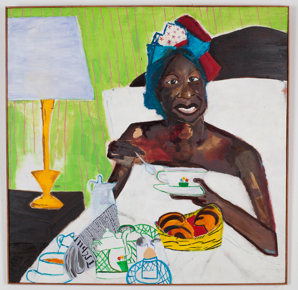 NINA SIMONE TAKING BREAKFAST IN BED