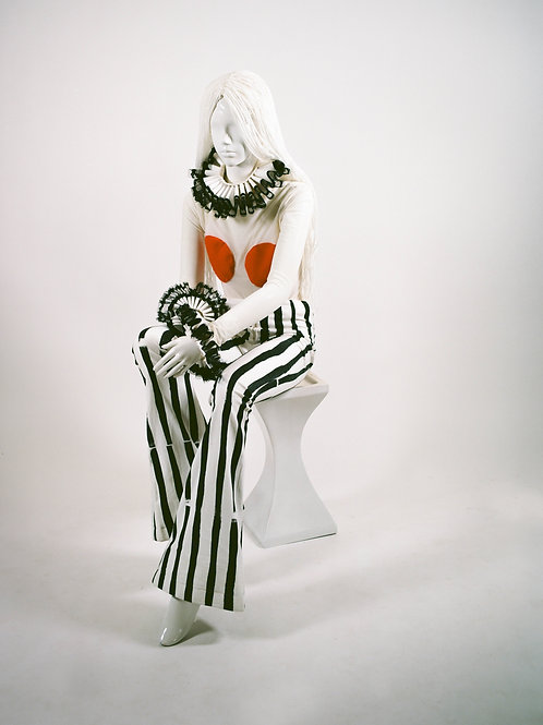 Vinyl Collection Striped Groovy Pants