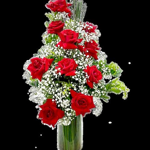 Arranjo de Rosas Vermelhas - 10 Rosas