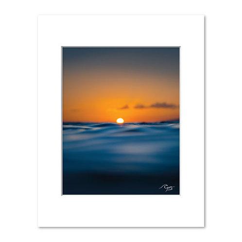 Sunkissed Sea Print