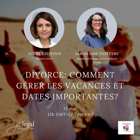 divorce : comment gérer les vacances et dates importantes?