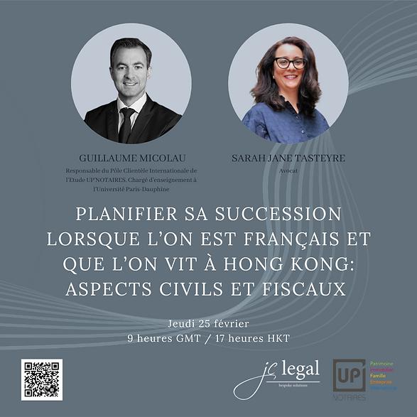 PLANIFIER SA SUCCESSION POUR LES FRANCAIS A HONG KONG