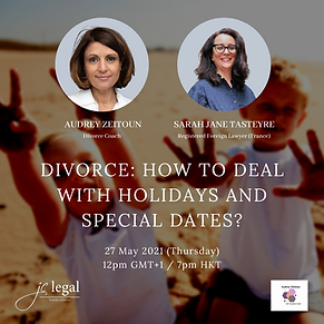 divorce : how to deal with important dates and holidays