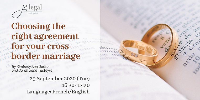 Choosing the right agreement for your cross-border marriage