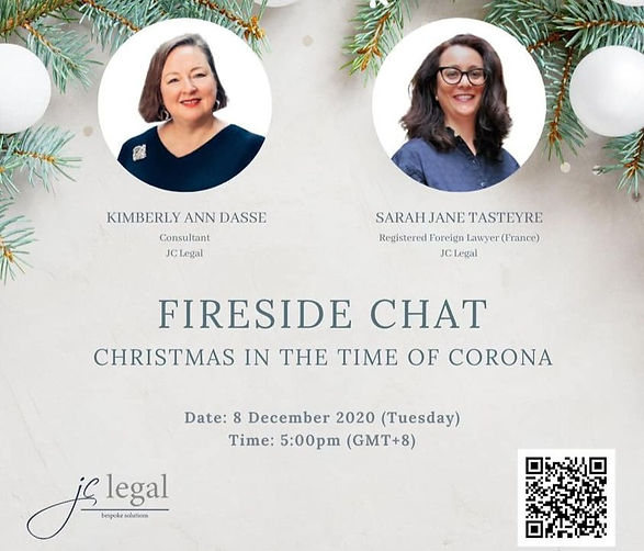 FIRESIDE CHAT : CHRISTMAS in the TIME of CORONA