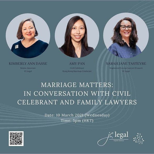 Marriage matters : in conversation with Civil celebrant and family lawyers