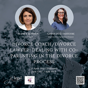 Divorce coach/divorce lawyer: dealing with co-parenting in the divorce process?