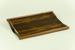 English Walnut Bur Veneer Tea Tray