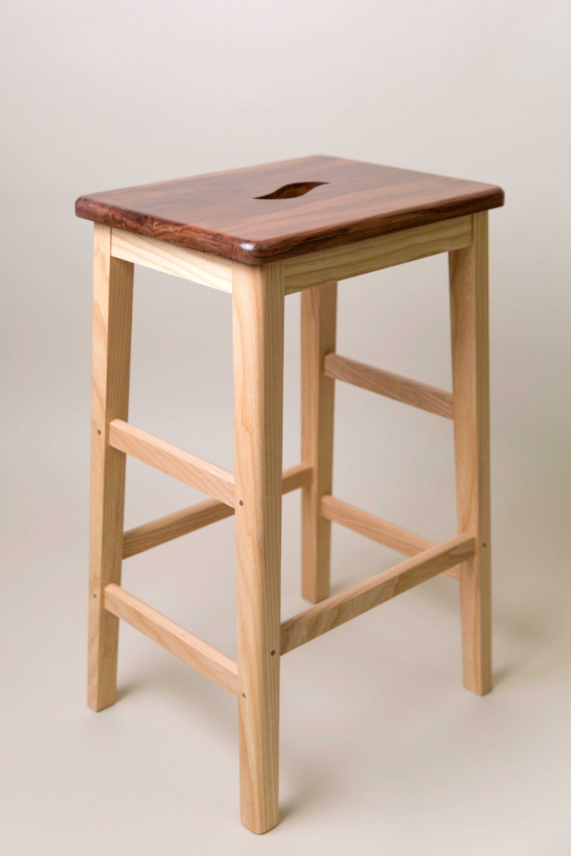 English Ash & Walnut Stool