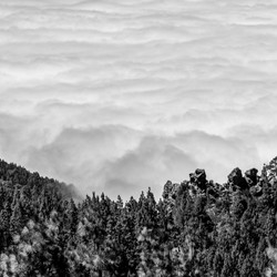 Brandendes Wolkenmeer