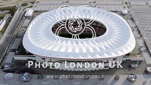 Wanda Metropolitano Stadium Aerial View In Madrid, Spain