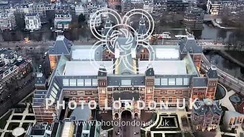 The Rijksmuseum Aerial View In Amsterdam Netherlands