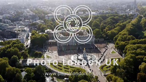Aerial View Of Buckingham Palace And St James's Park In London