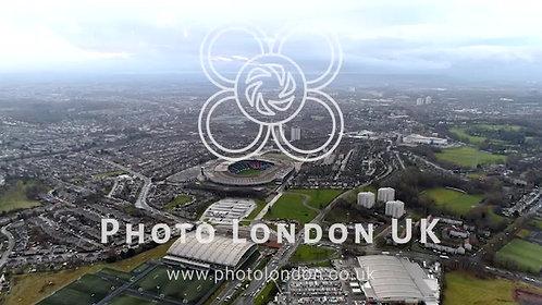 Hampden Park Scottish National Football Stadium Aerial View 4K