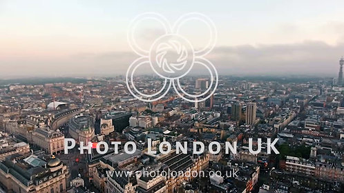 Flying By Centre London Piccadilly Circus And Leicester Square, England 4K Uhd