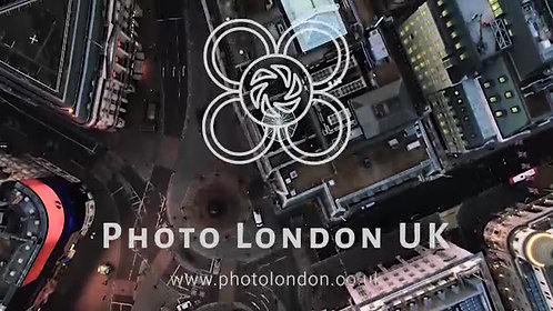 Bird's Eye View Flying Over Piccadilly Circus, London, England