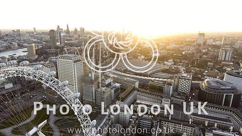 Waterloo Aerial London Station Eye Wheel