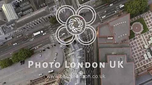 Bird Eye View London Streets And Traffic Road Signs 4K