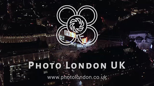 Aerial View At Night Of The Piccadilly Circus In London