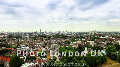 Aerial View Of Clapham And Battersea In London