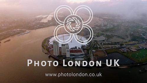 London Urban Riverside Bird Eye Aerial View Of Beautiful Sky Clouds And O2 Arena