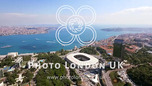New Istanbul Skyline Aerial Video