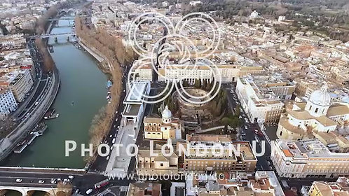 Aerial Video Of Rome Cityscape 4K