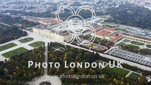 Palace And Gardens Of Schönbrunn In Vienna Aerial View In Austria