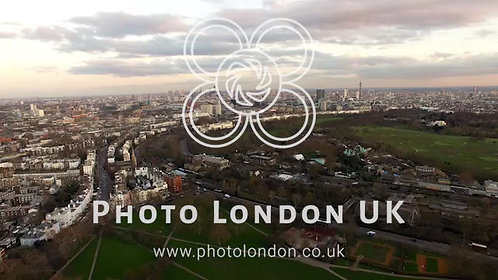 Aerial Urban View Of London City Stock Video - 4K