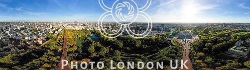 Aerial London City Skyline Wide 360 Degree Panorama View
