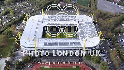 Signal Iduna Park Stadium Home Of Borussia Dortmund Aerial View