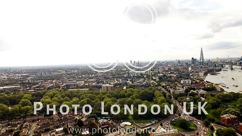 Aerial London Urban Cityscape Around South Of The City