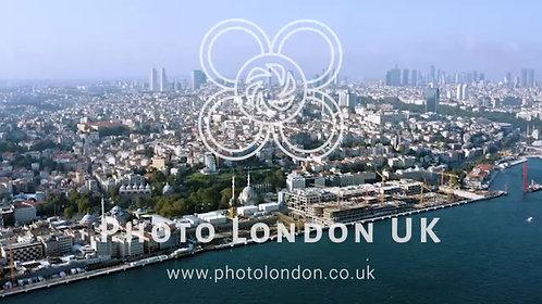 New Istanbul Aerial View In Turkey Flying By Bosphorus